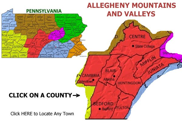 Allegheny Mountains PA bed and breakfasts, vacation rentals ...